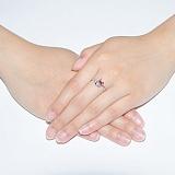 Серебряное кольцо с рубином Бесконечность