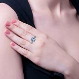 Серебряное кольцо с куб. цирконием Нонна