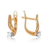 Золотые серьги с бриллиантами Эмина
