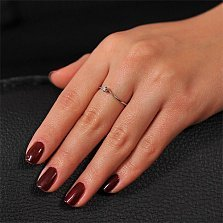 Кольцо из белого золота с бриллиантом Марго