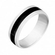 Обручальное серебряное кольцо Лад и согласие с эмалью