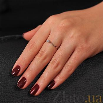 Кольцо из белого золота с бриллиантом Марго EDM--КД7461/1