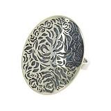 Серебряное кольцо Дельта