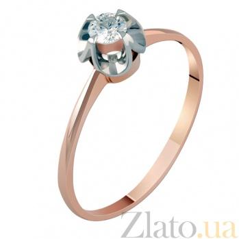 Кольцо из красного золота с бриллиантом Интуиция KBL--К1843/крас/брил