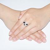 Серебряное кольцо с цирконием Богемия