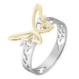 Кольцо Урания в белом и желтом золоте