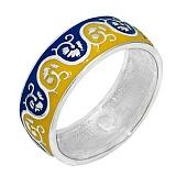 Серебряное кольцо с цветной эмалью Вышиванка