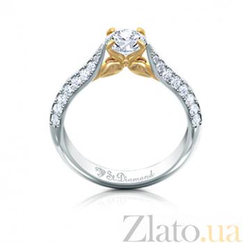 Золотое кольцо с топазом и бриллиантами Лилу 000029711