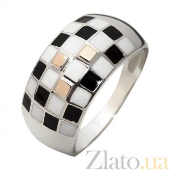 Кольцо из серебра с золотом Арлекин BGS--676к