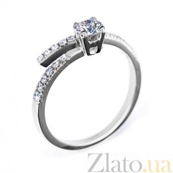 Кольцо из белого золота с бриллиантами Веста R 0585