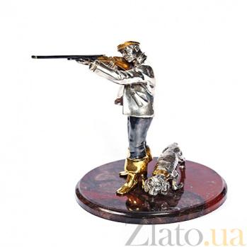 Серебряная статуэтка с позолотой Меткий выстрел 639