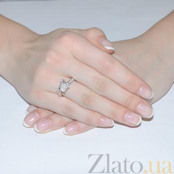 Кольцо из белого золота с бриллиантами Лаура R-069x