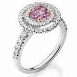 Кольцо Argile из белого золота с розовым сапфиром и бриллиантами