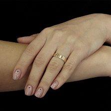 Серебряное кольцо Спасительное с золотой накладкой и чернением
