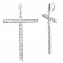 Серебряный крестик Анаис с фианитами
