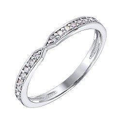 Кольцо из белого золота с бриллиантами 000125688