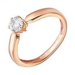 Кольцо из красного золота с фианитом Яркое мгновение
