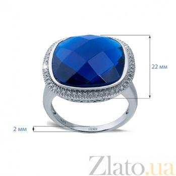 Серебряный перстень с синим цирконом Сила небес AQA--XJT-0590-RS