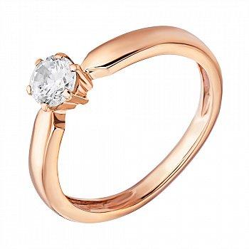 Кольцо из красного золота с фианитом 000024271
