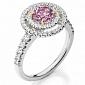 Кольцо Argile из белого золота с розовым сапфиром и бриллиантами R-cjAr-W-1s-34d