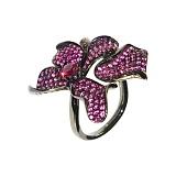 Серебряное кольцо с рубинами Луция