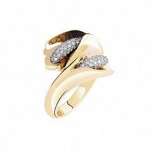 Золотое кольцо с бриллиантами Каллы