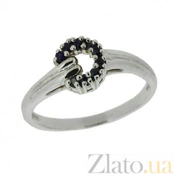 Серебряное кольцо с бриллиантами и сапфирами Лебария ZMX--RDS-1108-Ag_K