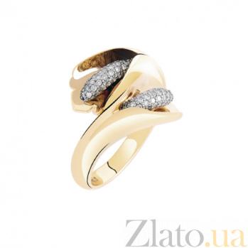 Золотое кольцо с бриллиантами Каллы KBL--К1653/красн/брил