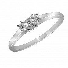 Кольцо из белого золота Миранда с бриллиантами