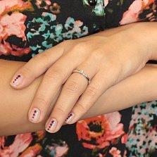 Помолвочное кольцо Лидия в белом золоте с бриллиантом в четырех крапанах