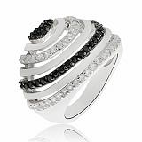 Серебряное кольцо Венеция с кристаллами Swarovski