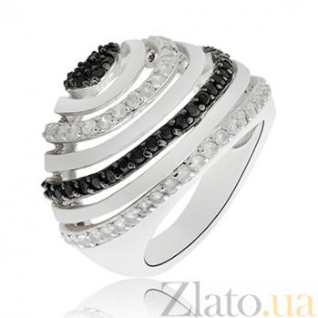 Серебряное кольцо Венеция с кристаллами Swarovski 10000004