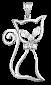 Серебряный подвес с фианитами Китти 000025263