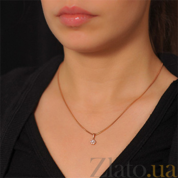 Золотой кулон Незабудка с бриллиантами EDM--П7476