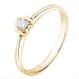 Помолвочное кольцо Чувство в желтом золоте с бриллиантом