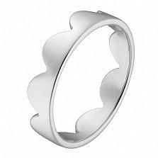 Кольцо Облака в белом золоте