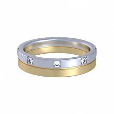 Кольцо из комбинированного золота с топазами Цветение грез