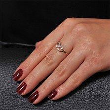Золотое кольцо с цирконием Фрейлина