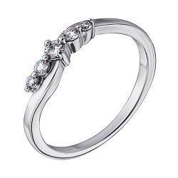Кольцо из белого золота с бриллиантами 000044251