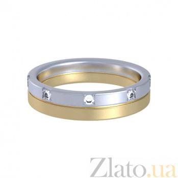 Кольцо из комбинированного золота с топазами Цветение грез 000029773