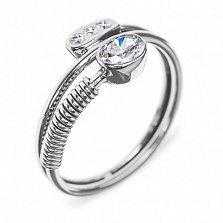 Золотое кольцо с бриллиантами Стильный акцент