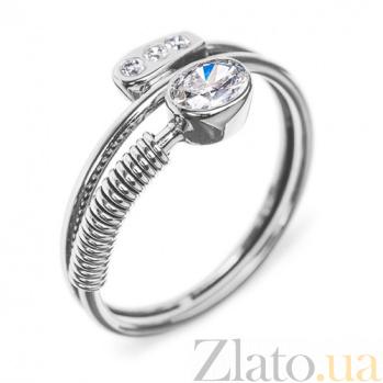 Золотое кольцо с бриллиантами Стильный акцент R0401