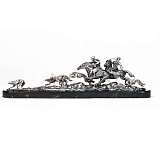 Серебряная композиция Псовая охота