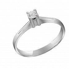 Кольцо из белого золота Предложение с бриллиантом