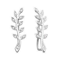 Серебряные серьги-каффы с фианитами 000145751