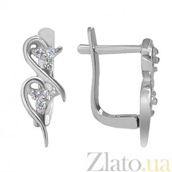 Сережки из серебра Ирида 10030049