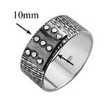 Серебряное чернёное кольцо Болт