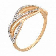 Кольцо золотое Fusion с фианитами
