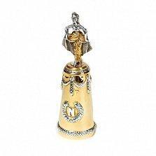 Серебряная рюмка с позолотой Императрица Жозефина
