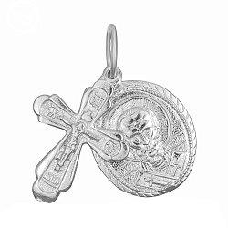 Серебряный крестик с ладанкой Святой Покровитель 000028501